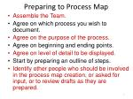 preparing to process map