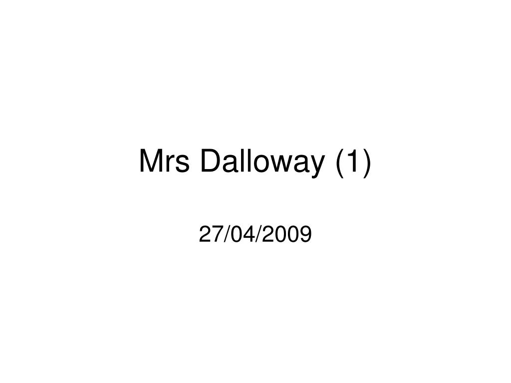 mrs dalloway 1 l.