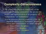 complexity consciousness33