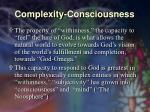 complexity consciousness35