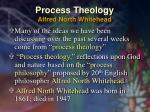 process theology alfred north whitehead