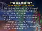 process theology god s intimacy with creation