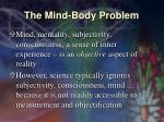 the mind body problem38