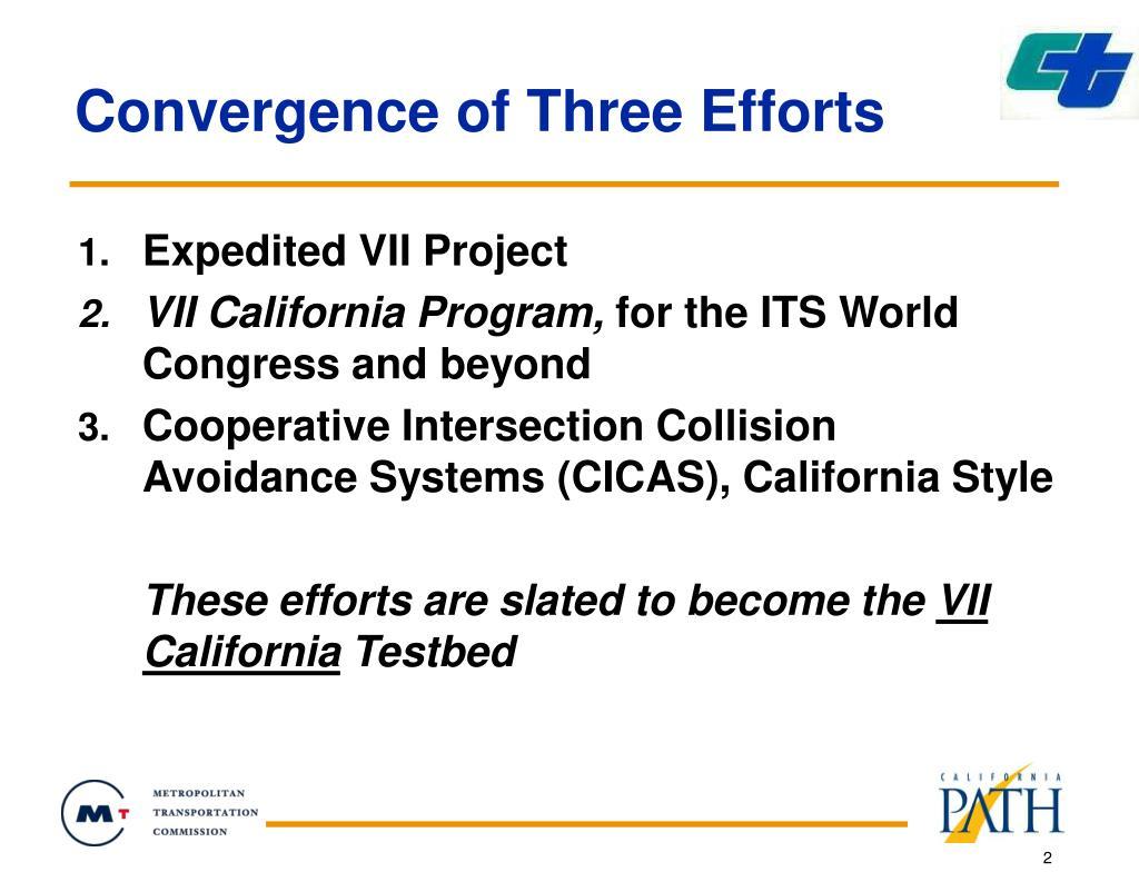 Convergence of Three Efforts