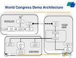 world congress demo architecture