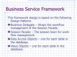 business service framework
