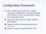 configuration framework