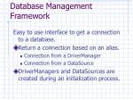 database management framework