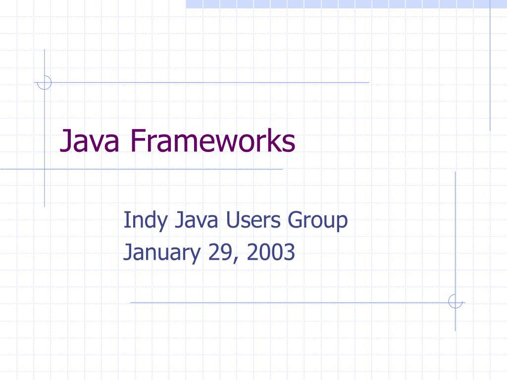 java frameworks l.