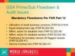 gsa prime sub flowdown audit issues