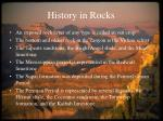 history in rocks