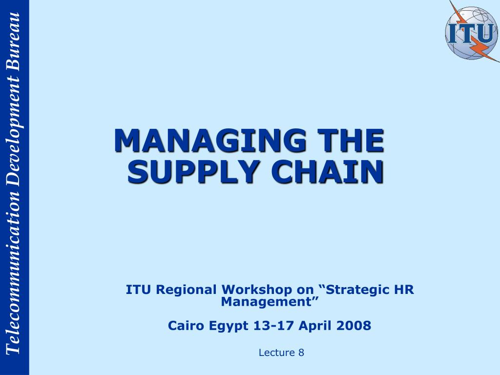 managing the supply chain l.