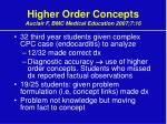 higher order concepts auclair f bmc medical education 2007 7 16