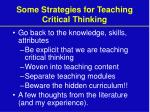 some strategies for teaching critical thinking