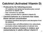 calcitriol activated vitamin d
