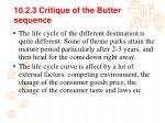 10 2 3 critique of the butter sequence