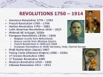 revolutions 1750 1914