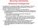 recurring interlocking behavioral contingencies