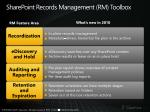 sharepoint records management rm toolbox