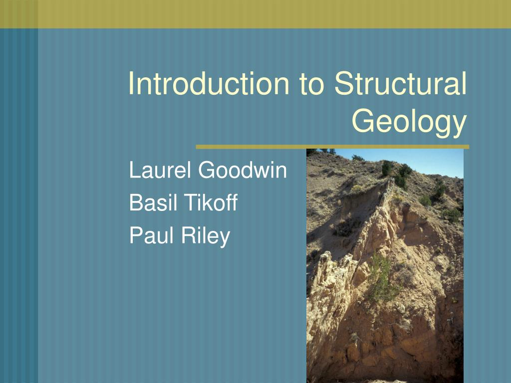 introduction to structural geology l.