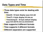 data types and time