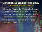 christian ecological theology 1 biblical creation theology