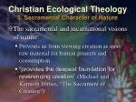 christian ecological theology 3 sacramental character of nature24