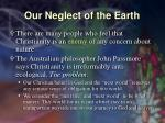 our neglect of the earth16