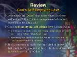 review god s self emptying love
