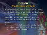 review what evolution tells us8