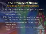 the promise of nature avoiding a narrow interpretation