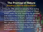 the promise of nature avoiding a narrow interpretation38