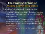the promise of nature avoiding a narrow interpretation39
