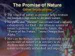 the promise of nature other implications35