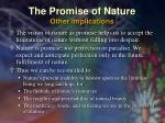 the promise of nature other implications36