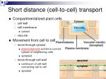 short distance cell to cell transport