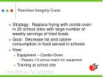 nutrition integrity grant