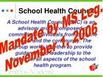 school health council