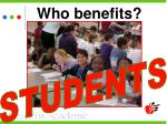 who benefits