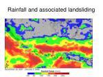 rainfall and associated landsliding