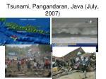 tsunami pangandaran java july 2007