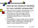 how do we measure solubility for very soluble compounds