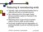reducing nonreducing ends