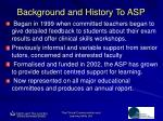 background and history to asp