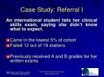 case study referral i