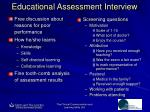educational assessment interview