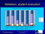 validation student evaluation