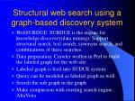 structural web search using a graph based discovery system