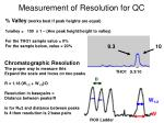 measurement of resolution for qc