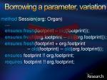 borrowing a parameter variation